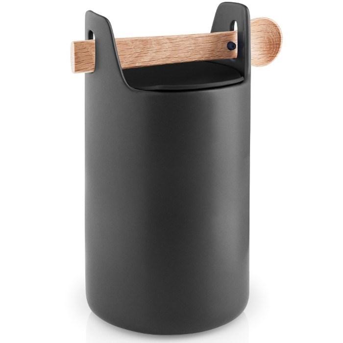 Obrázek z Dóza s dřevěnou lžičkou TOOLBOX, černá - 20 cm