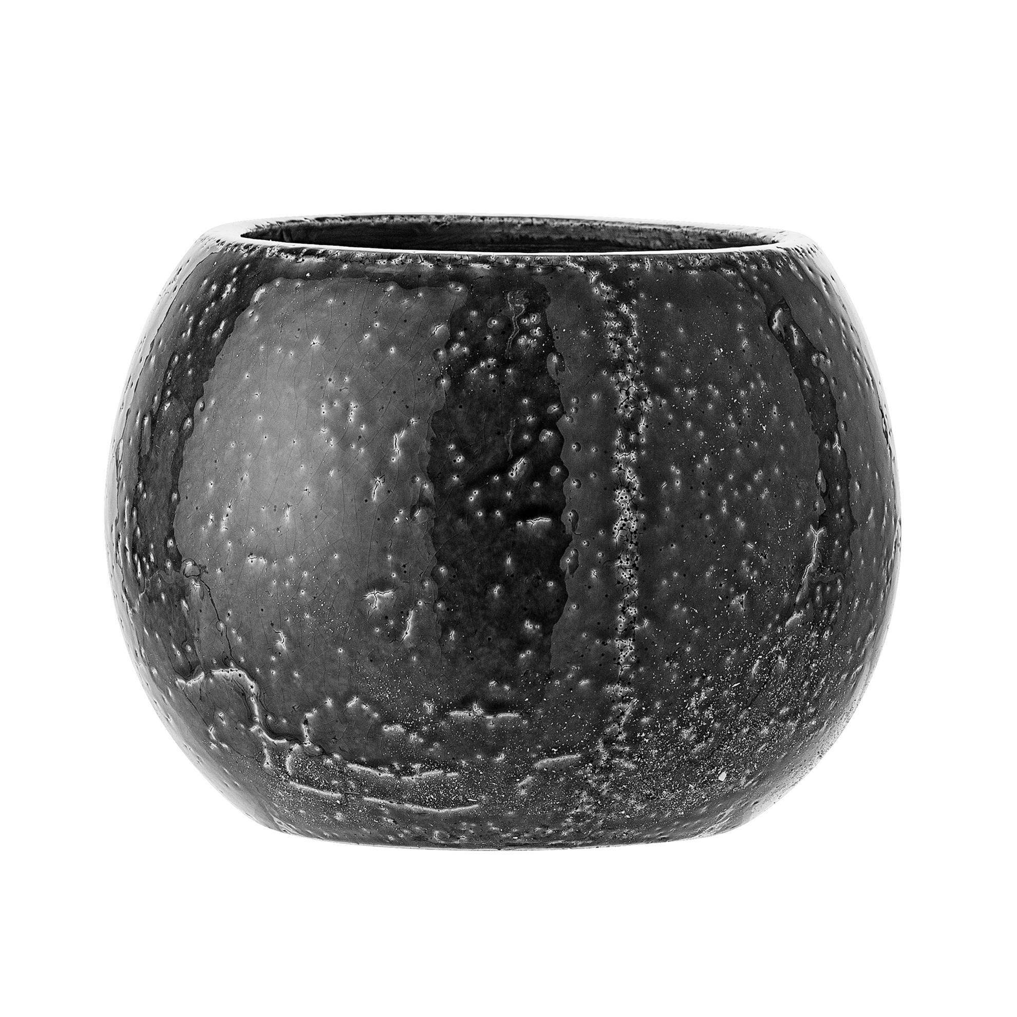 Kameninový květináč tmavě šedý, P.23 cm_1