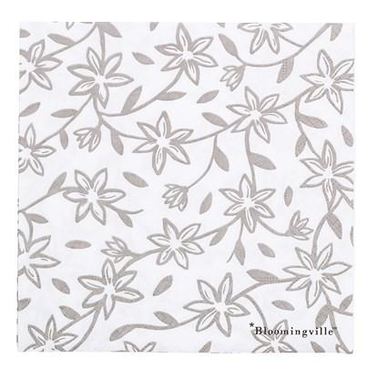 Papírové ubrousky s motivem květin - bal. 20 ks_0