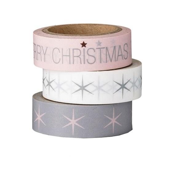 Papírová lepící páska s vánočním potiskem SET/4ks_0