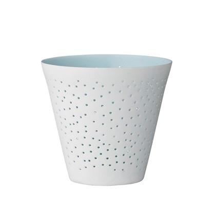 Porcelánový svícen s jemným otvory P.8 cm_0