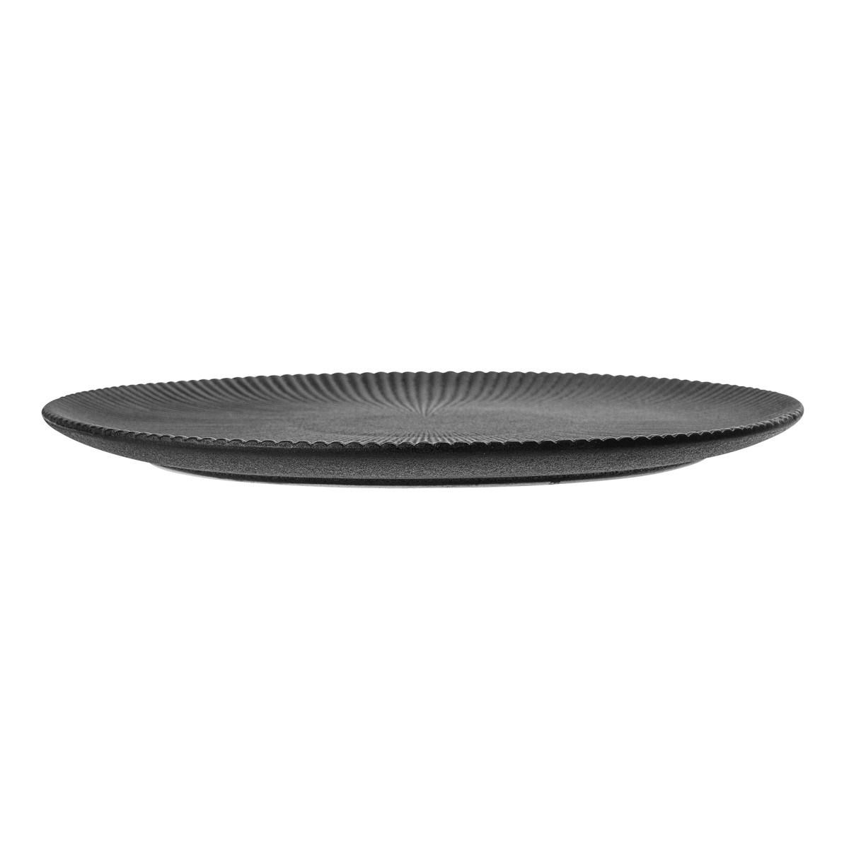 Černý kameninový talíř Neri - 29 cm_0