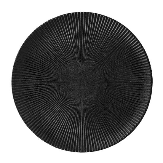 Černý kameninový talíř Neri - 29 cm_1