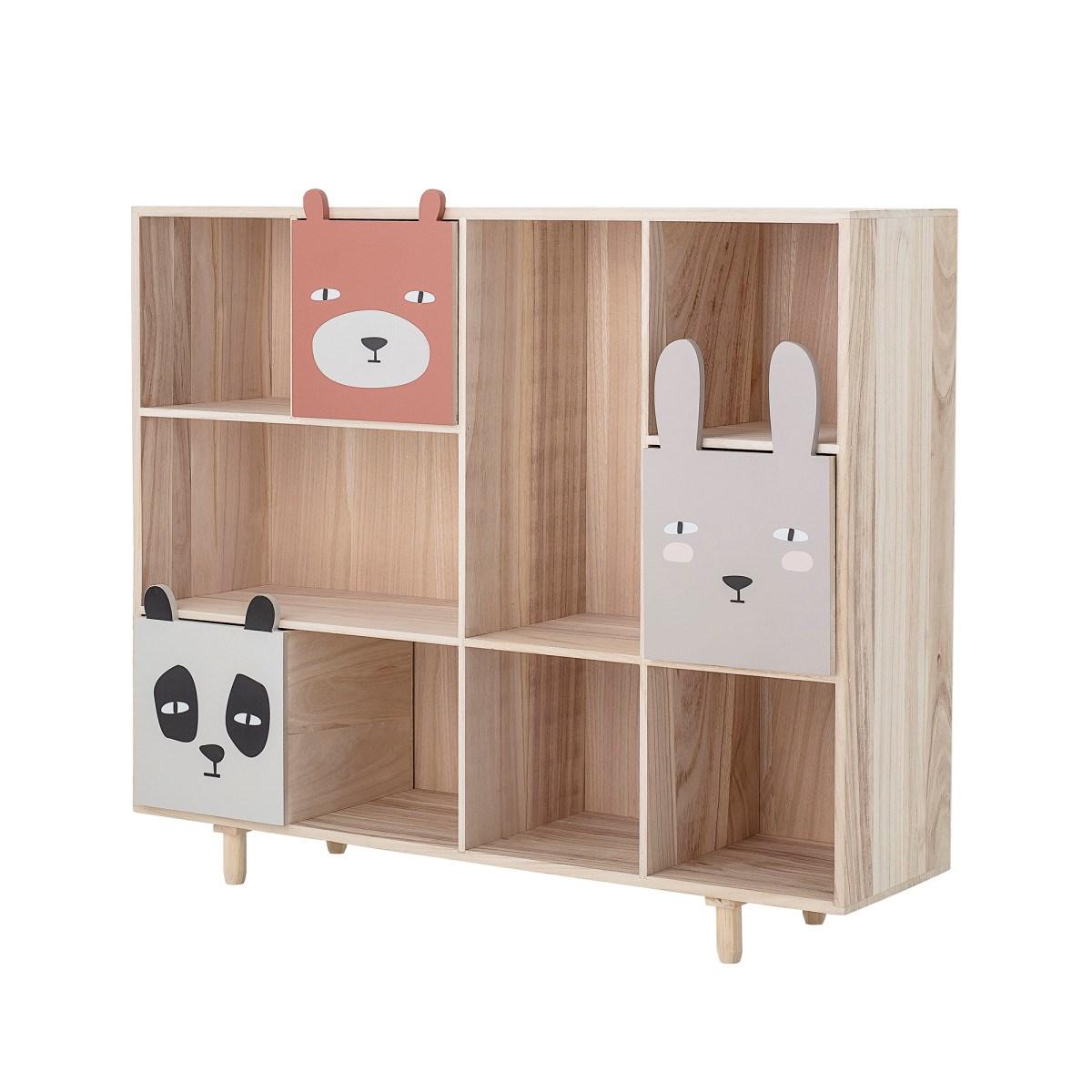 Dřevěná knihovna se třemi šuplaty 107x94 cm_0