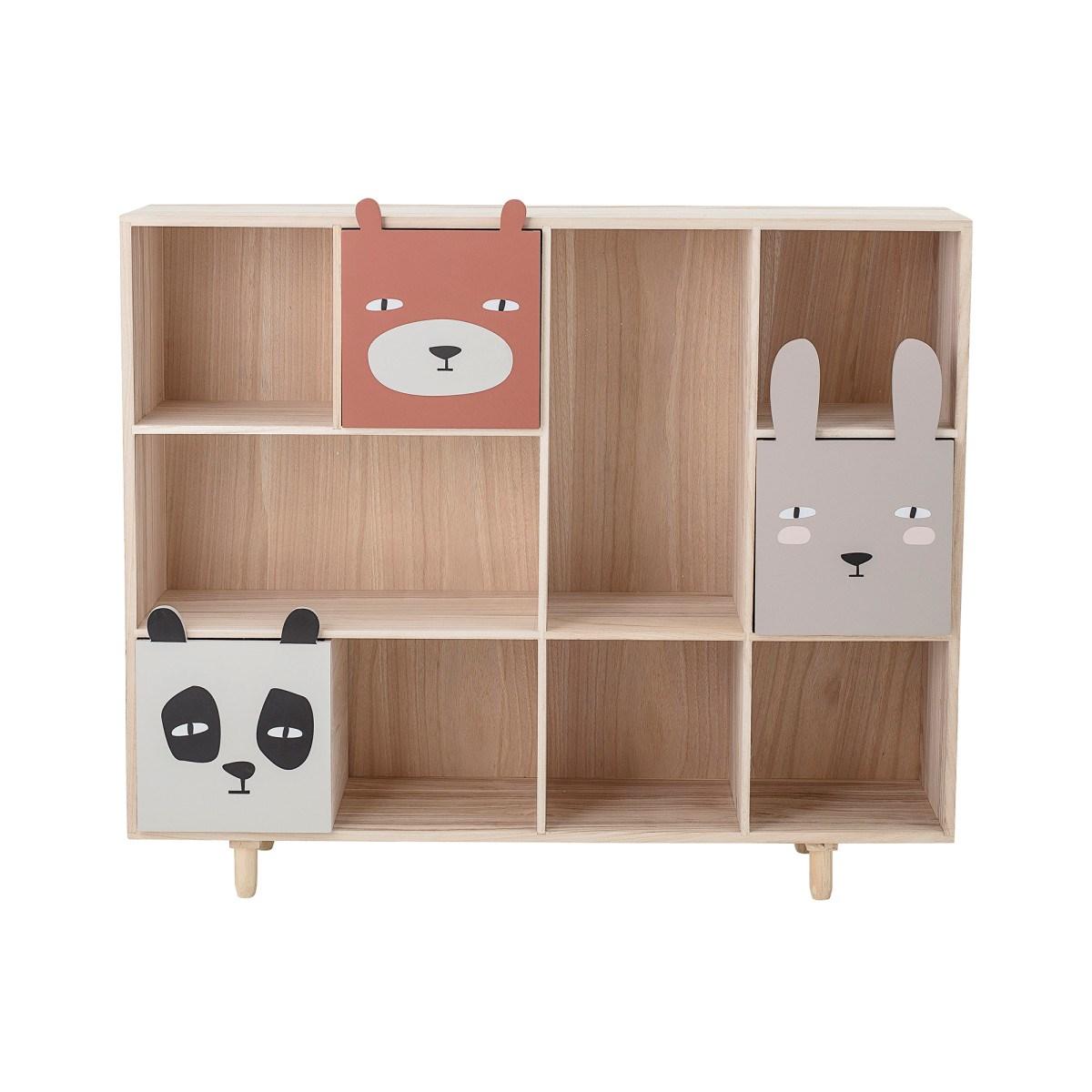 Dřevěná knihovna se třemi šuplaty 107x94 cm_4