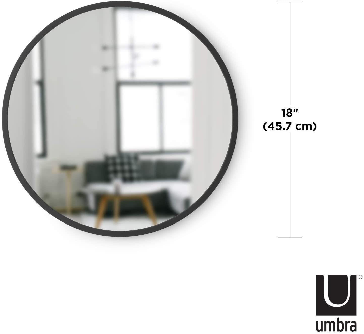 Obrázek z Zrcadlo HUB na zavěšení 45 cm černé