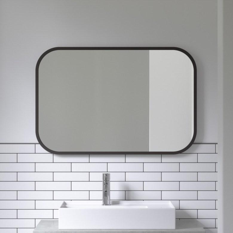 Obrázek z Zrcadlo HUB 61x91 cm černé
