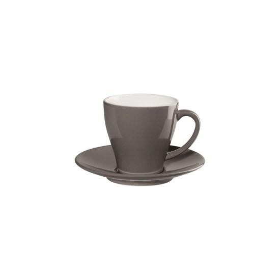 Šálek na kávu s podšálkem CAFFÉ TI AMO 0,25 l, šedohnědý_0