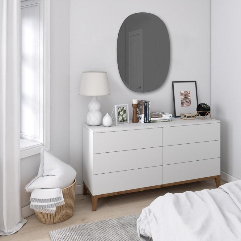 Obrázek z Zrcadlo HUB 61x91 cm kouřově šedé