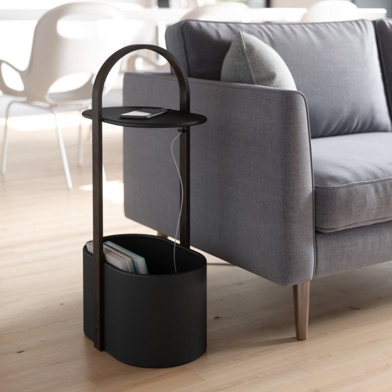 Obrázek z Odkládací stolek BELLWOOD černá/tm.hnědá