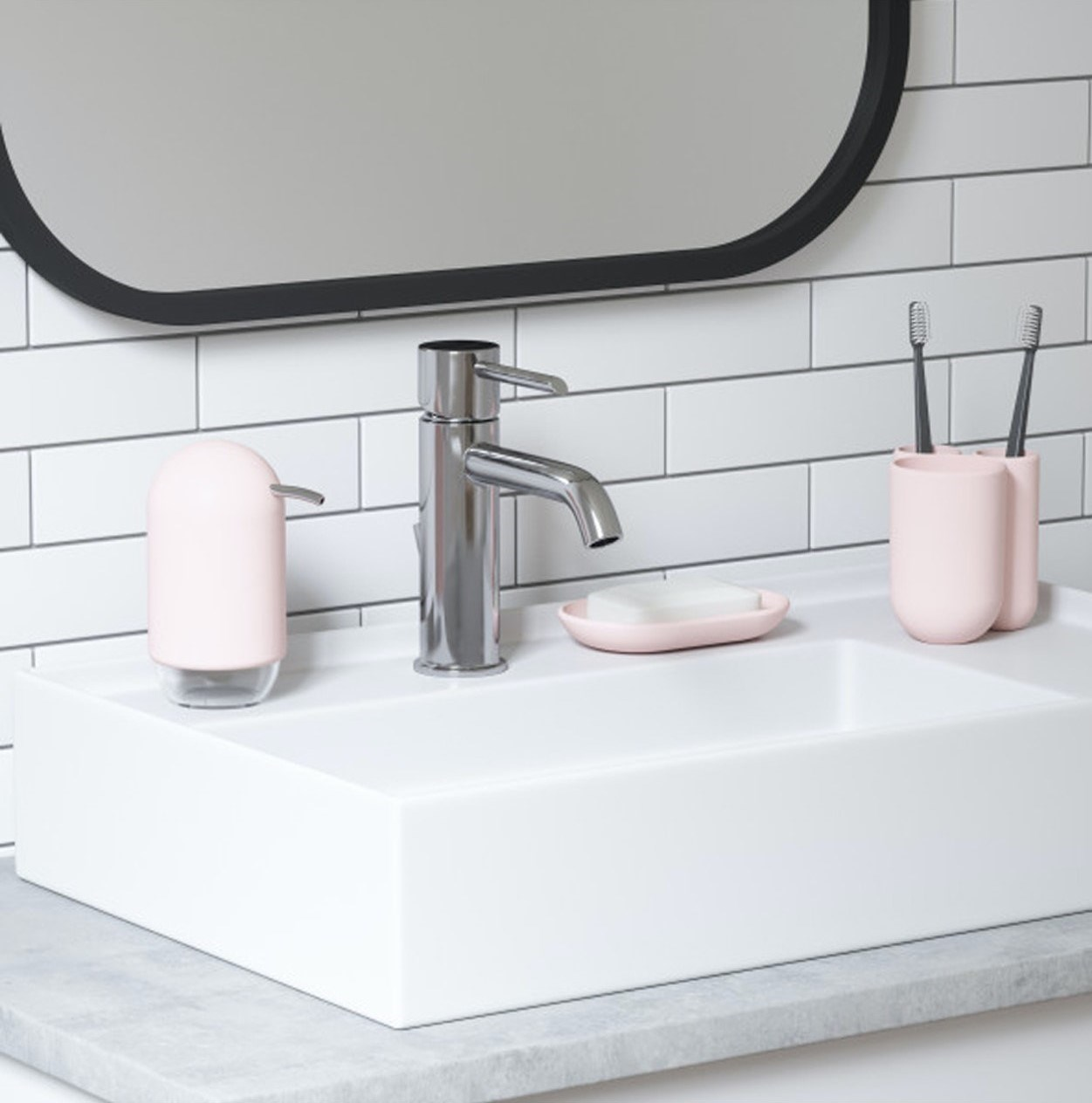 Obrázek z Dávkovač mýdla TOUCH růžový