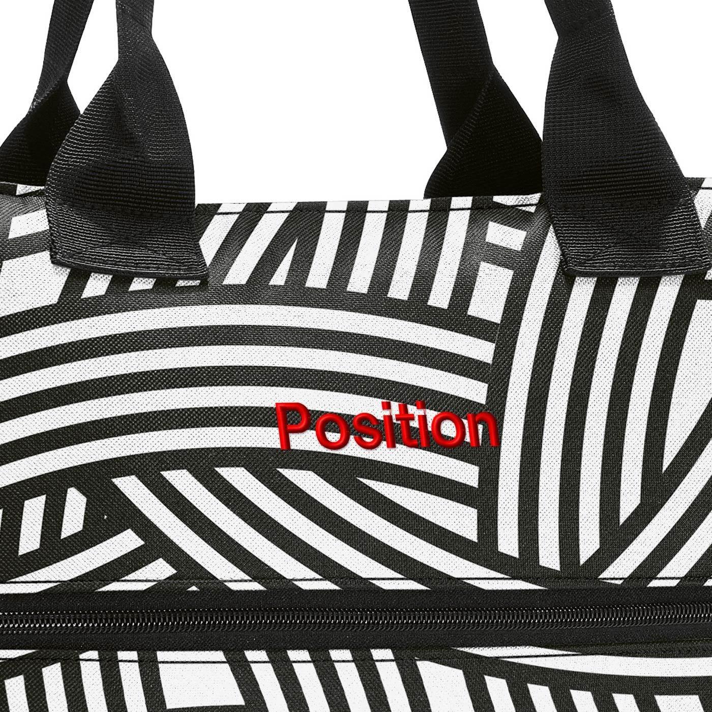 Chytrá taška přes rameno Shopper e1 zebra_2