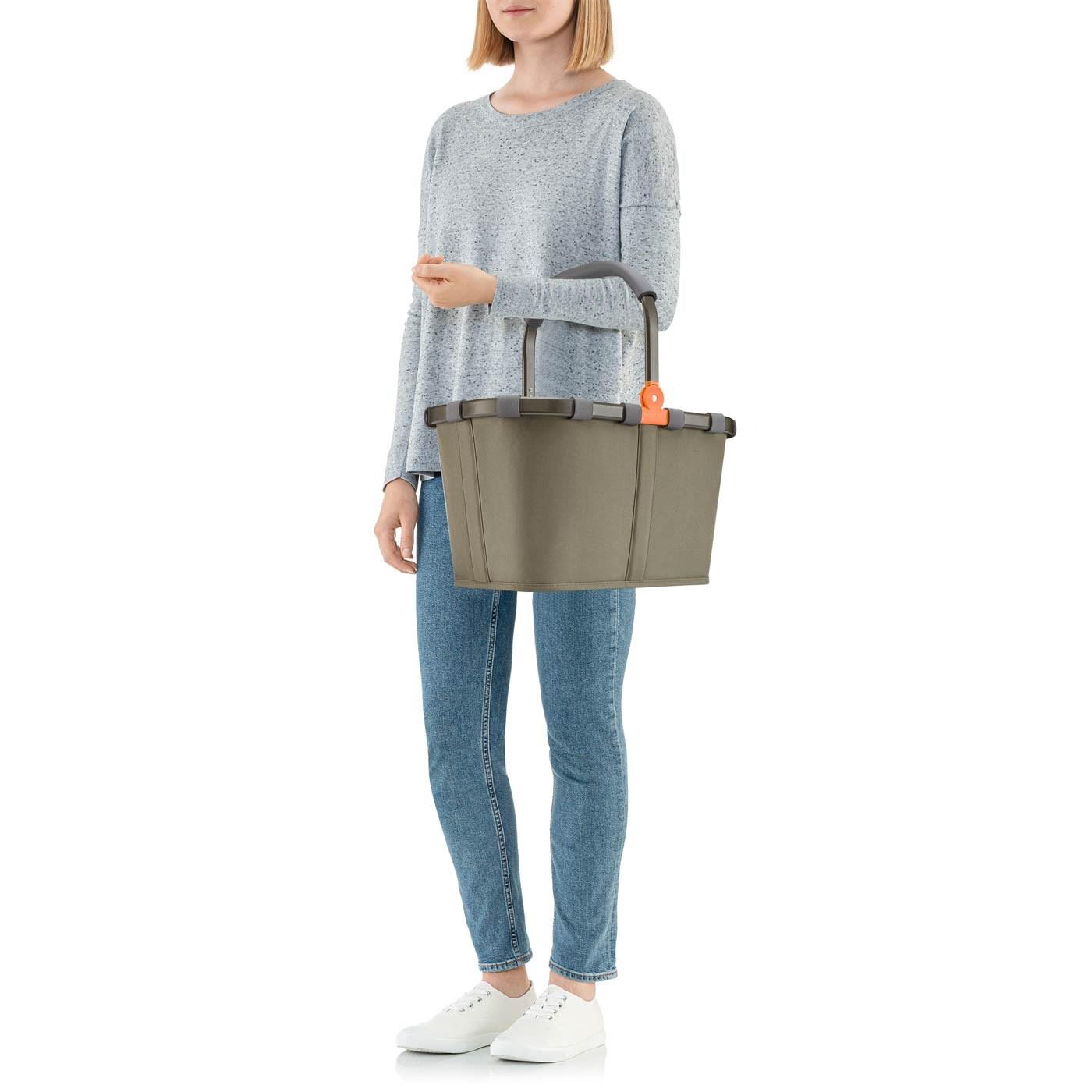 Nákupní košík Carrybag frame olive green_2
