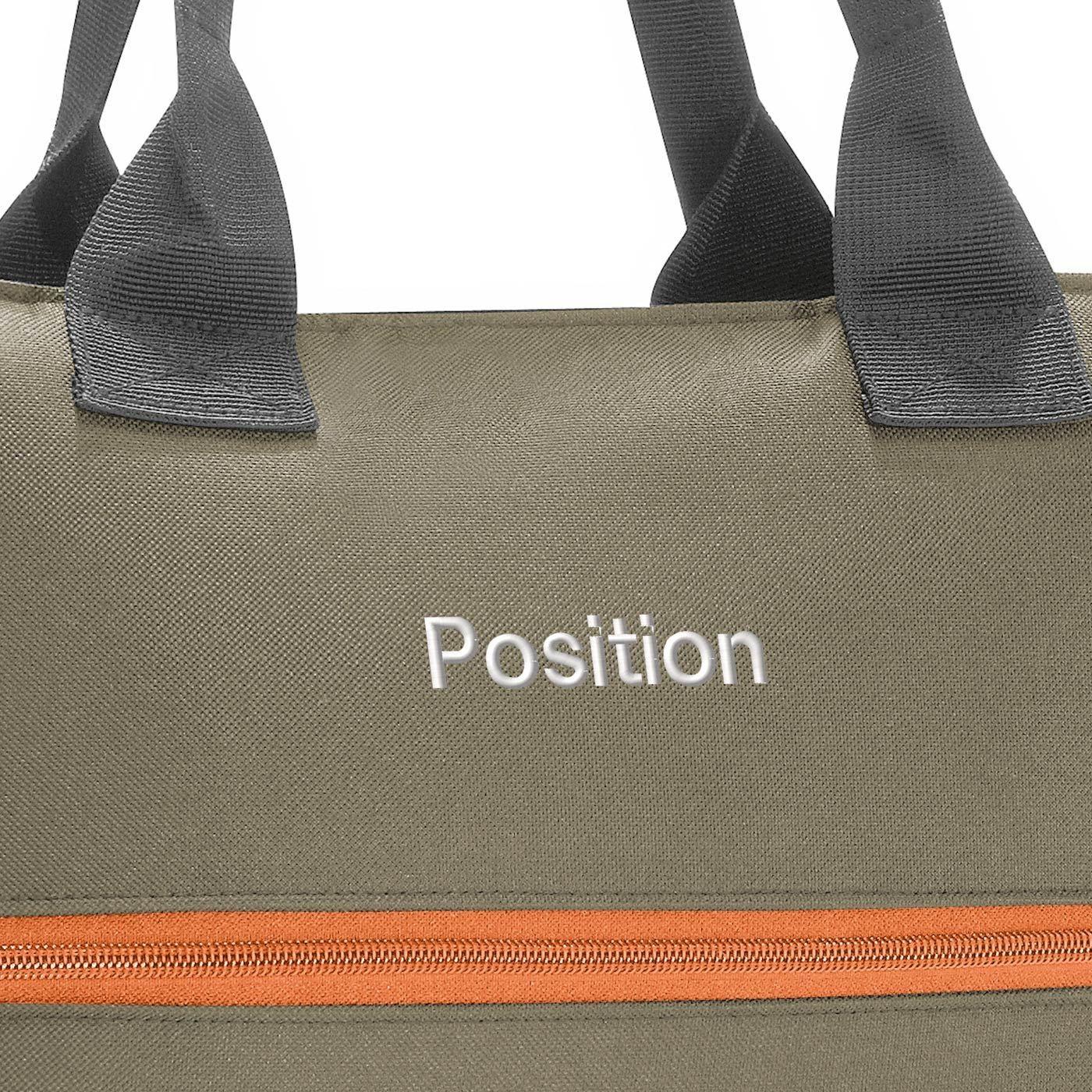 Chytrá taška přes rameno Shopper e1 olive green_2