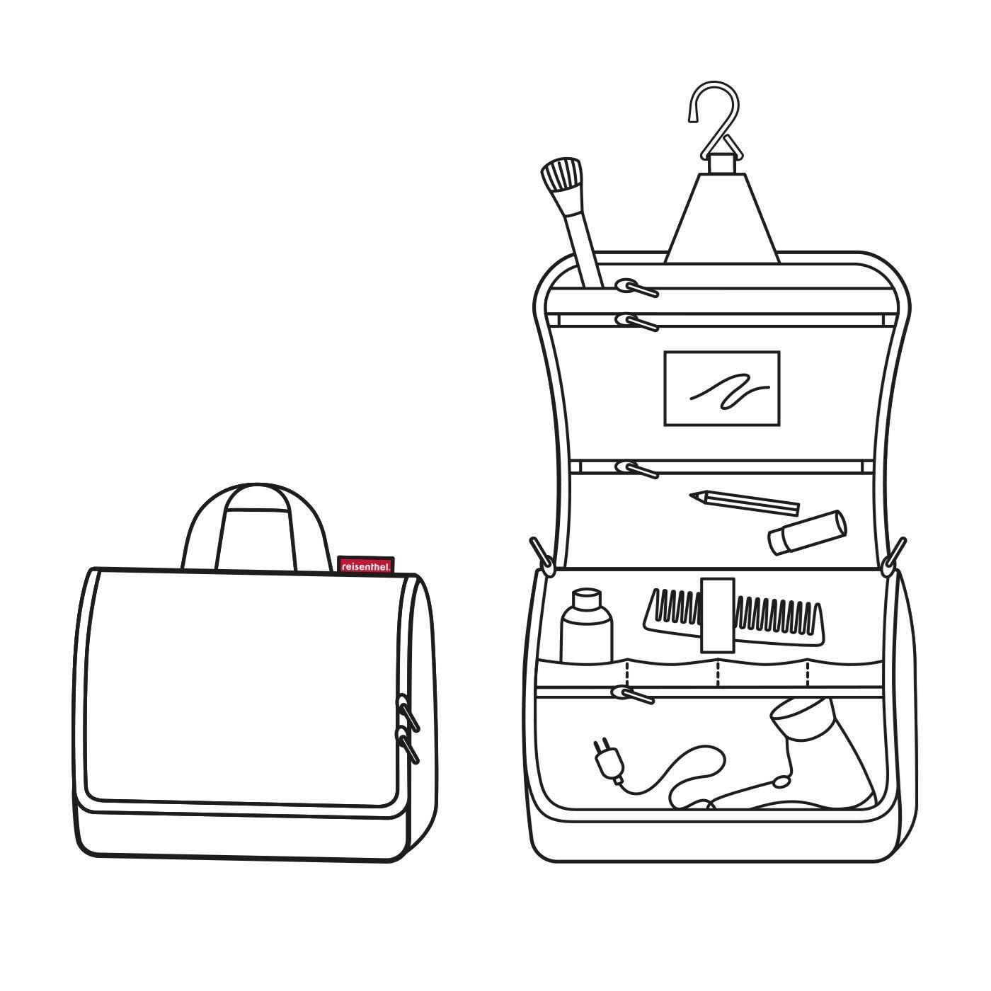 Kosmetická taška Toiletbag XL olive green_2