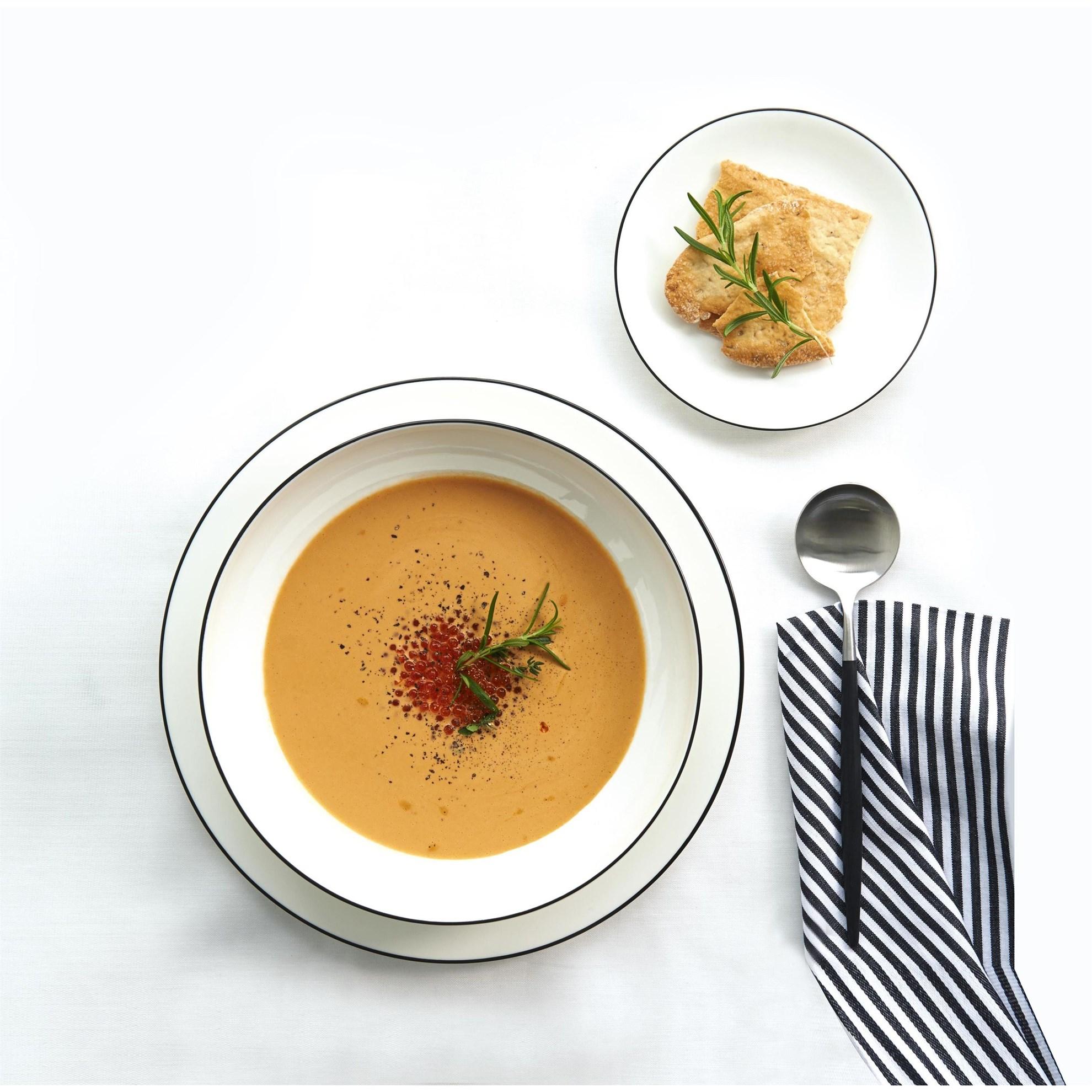 Talíř na polévku/pastu Á TABLE NOIRE 22_1