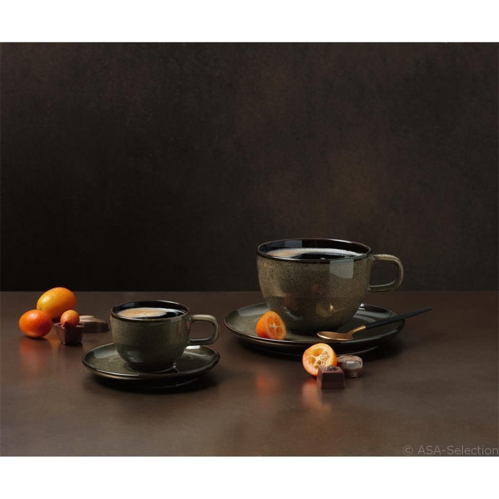 Šálek na espresso s podšálkem KOLIBRI 60 ml ořechový_0