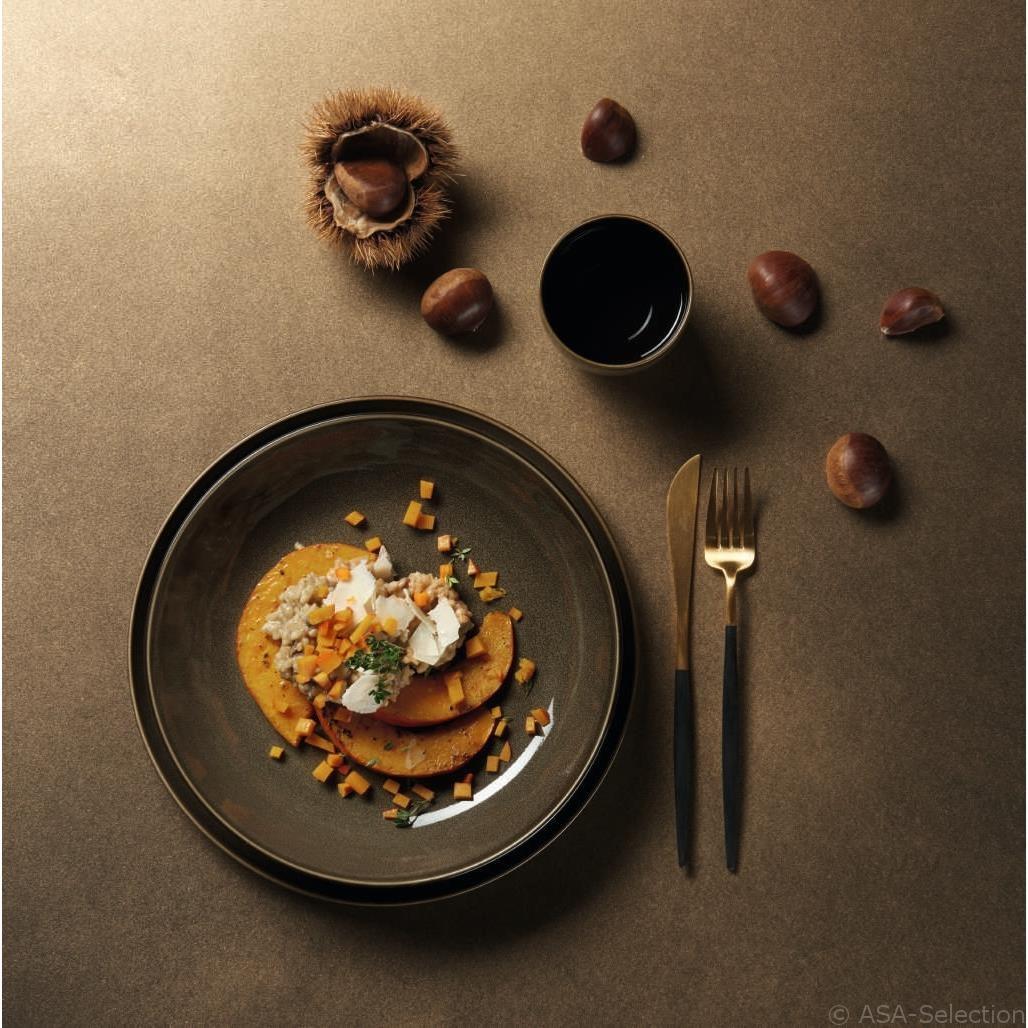 Mělký talíř ASA KOLIBRI 26,5 cm ořechový_1
