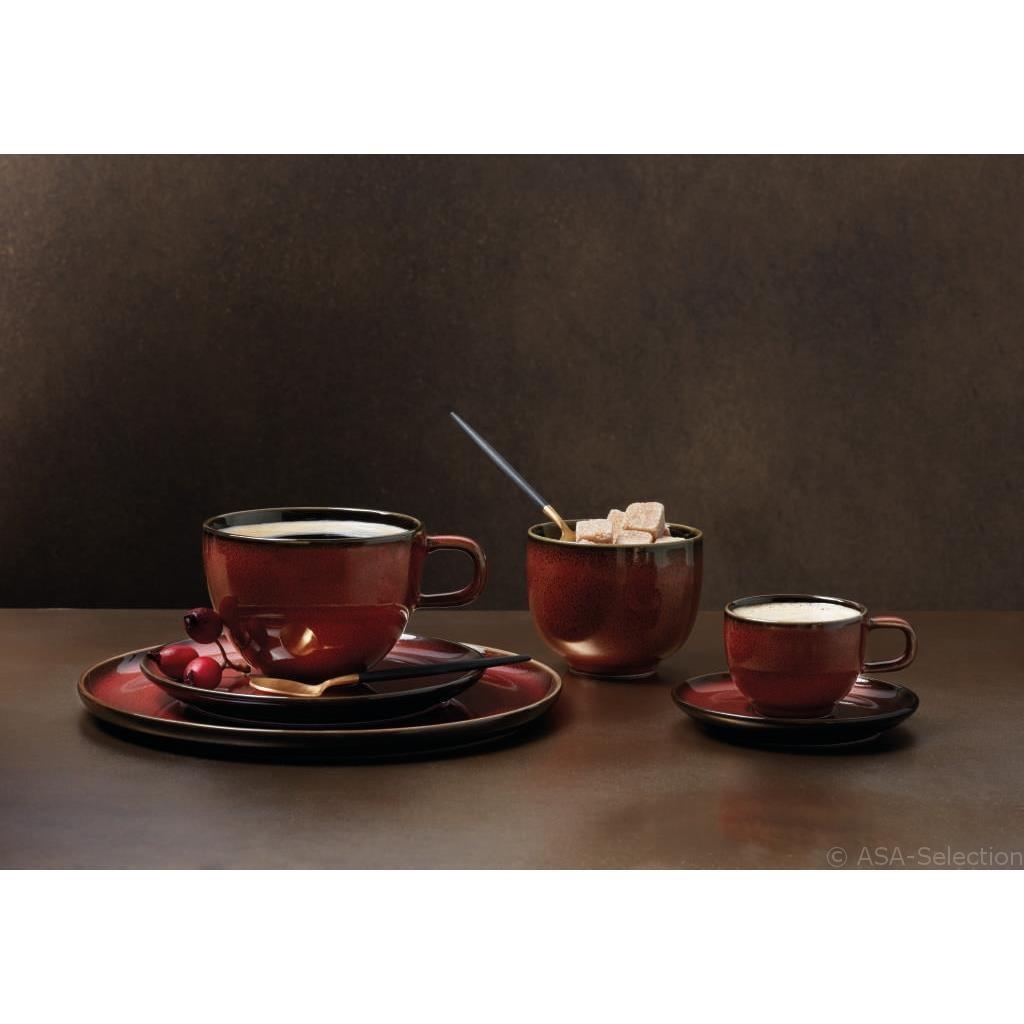 Šálek na kávu s podšálkem KOLIBRI 250 ml červený_0