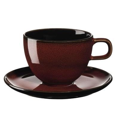 Šálek na kávu s podšálkem KOLIBRI 250 ml červený_1