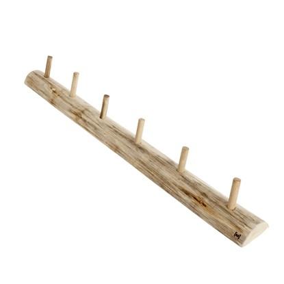 Věšák s 6-ti háčky dřevěný Alon L_6