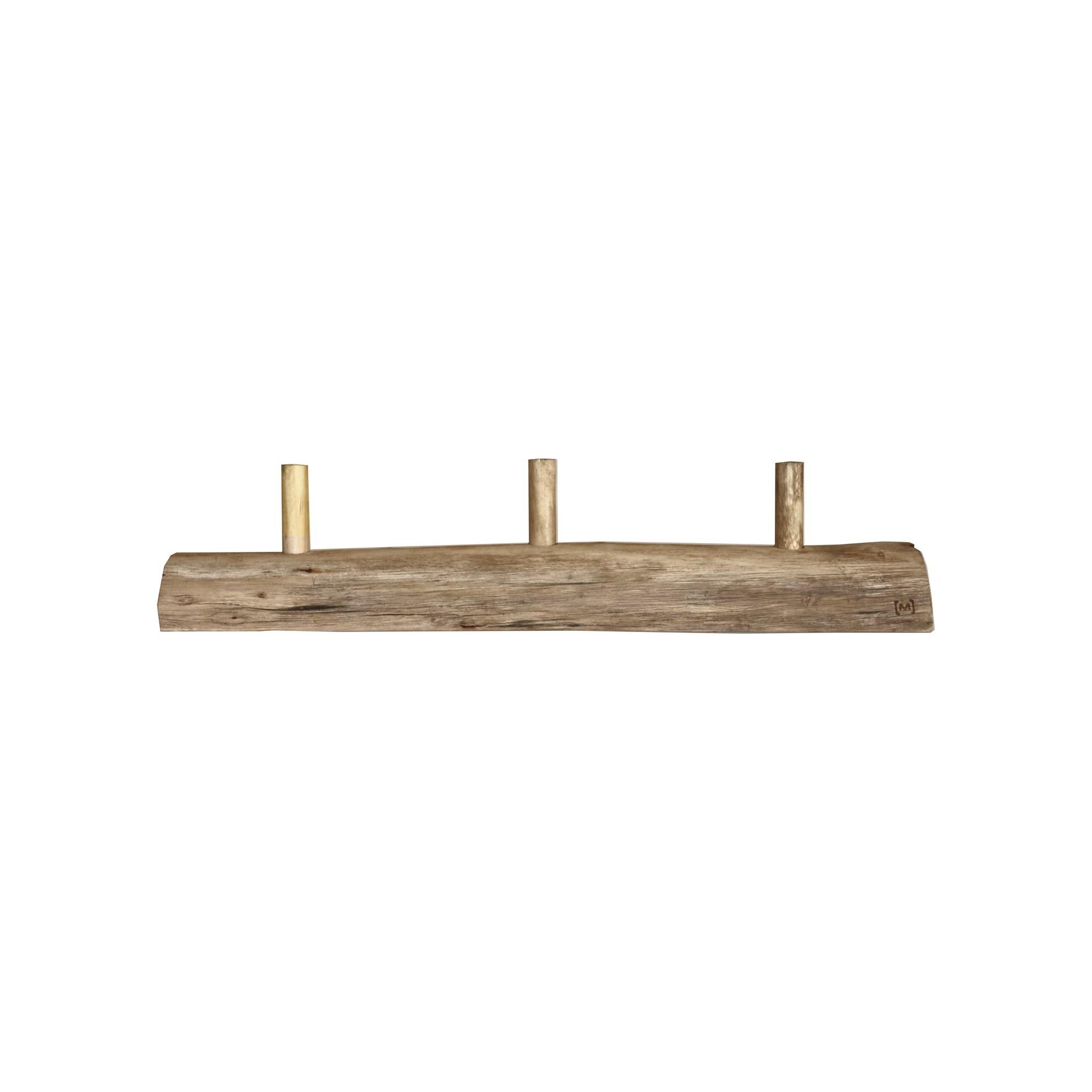 Věšák se 3-mi háčky dřevěný Alon S_1