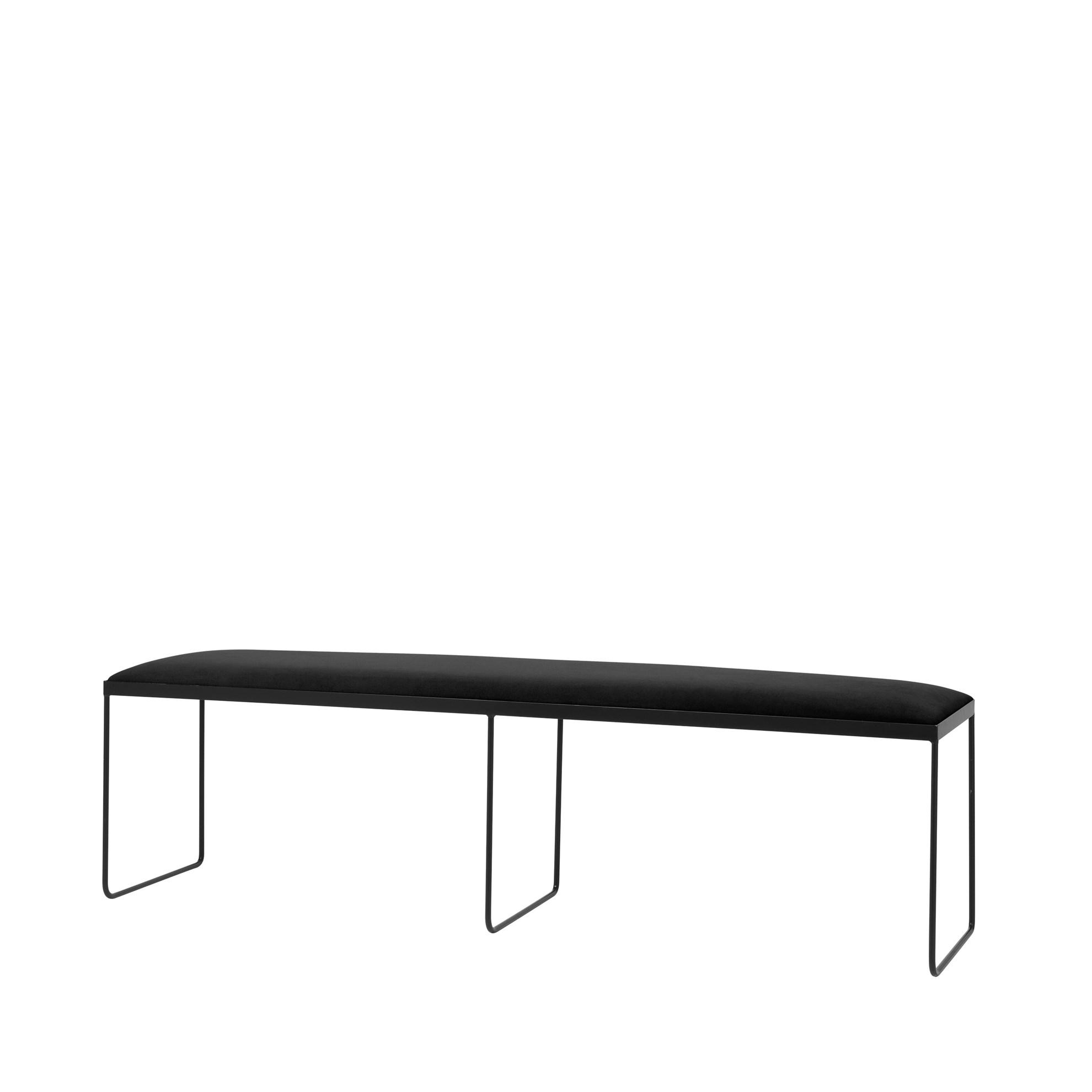 Lavice GORM - černá, 170 cm_0