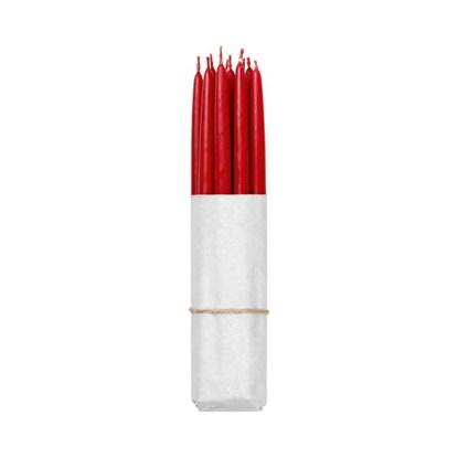 Máčené svíčky - červené SET/10ks_0
