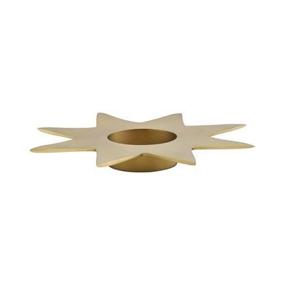 Kovový svícen STAR P.22 cm zlatý_0