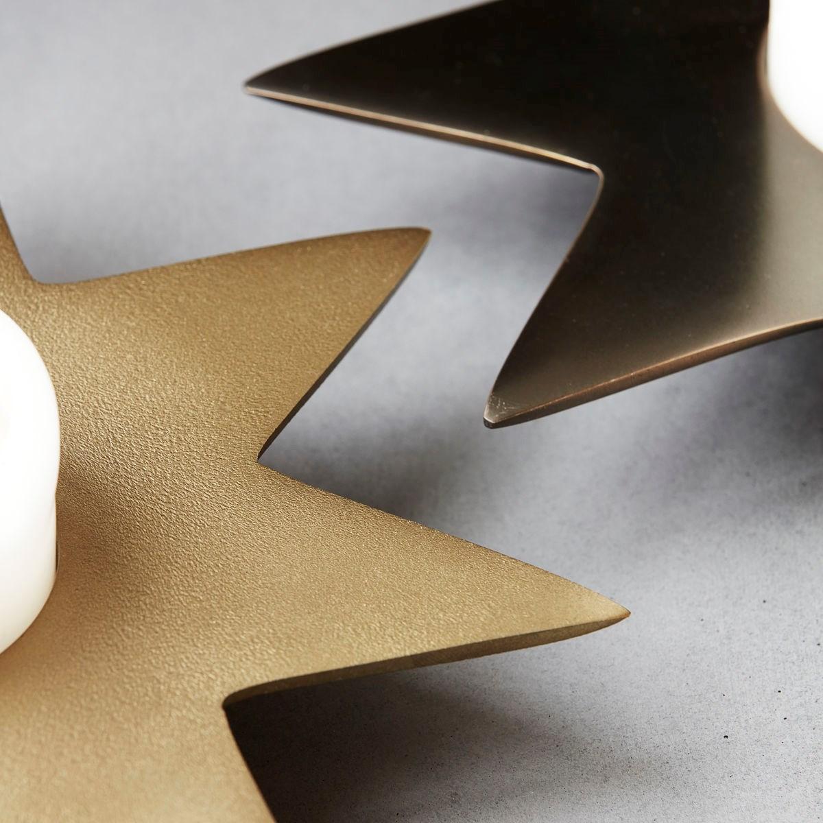 Kovový svícen STAR P.22 cm zlatý_2