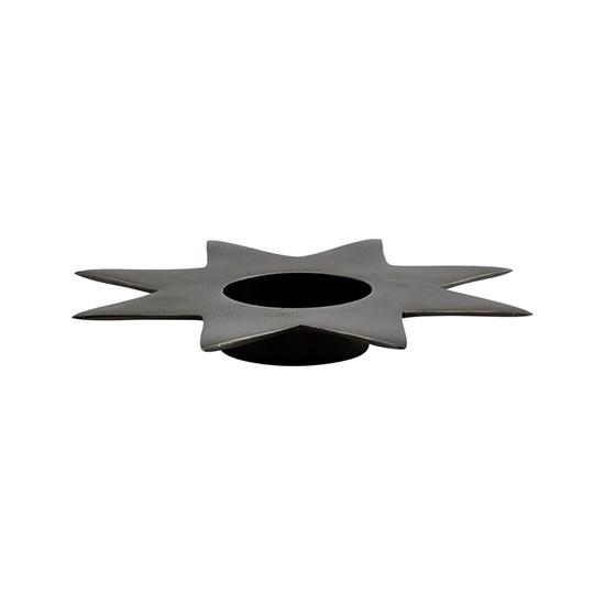 Kovový svícen STAR P.22 cm antický kov_0