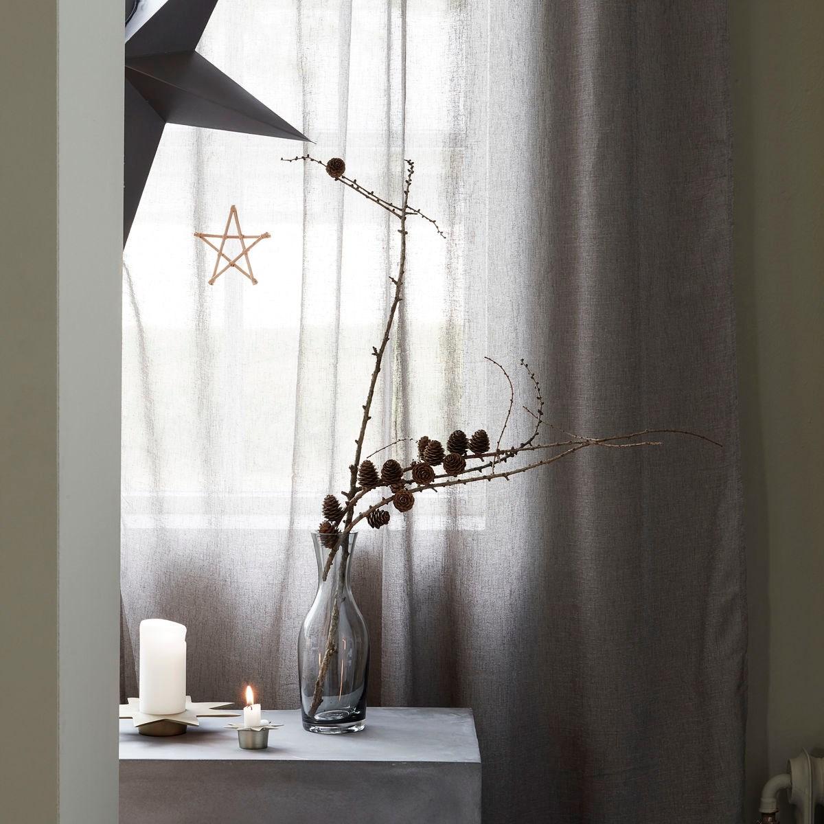 Kovový svícen STAR P.22 cm antický kov_1