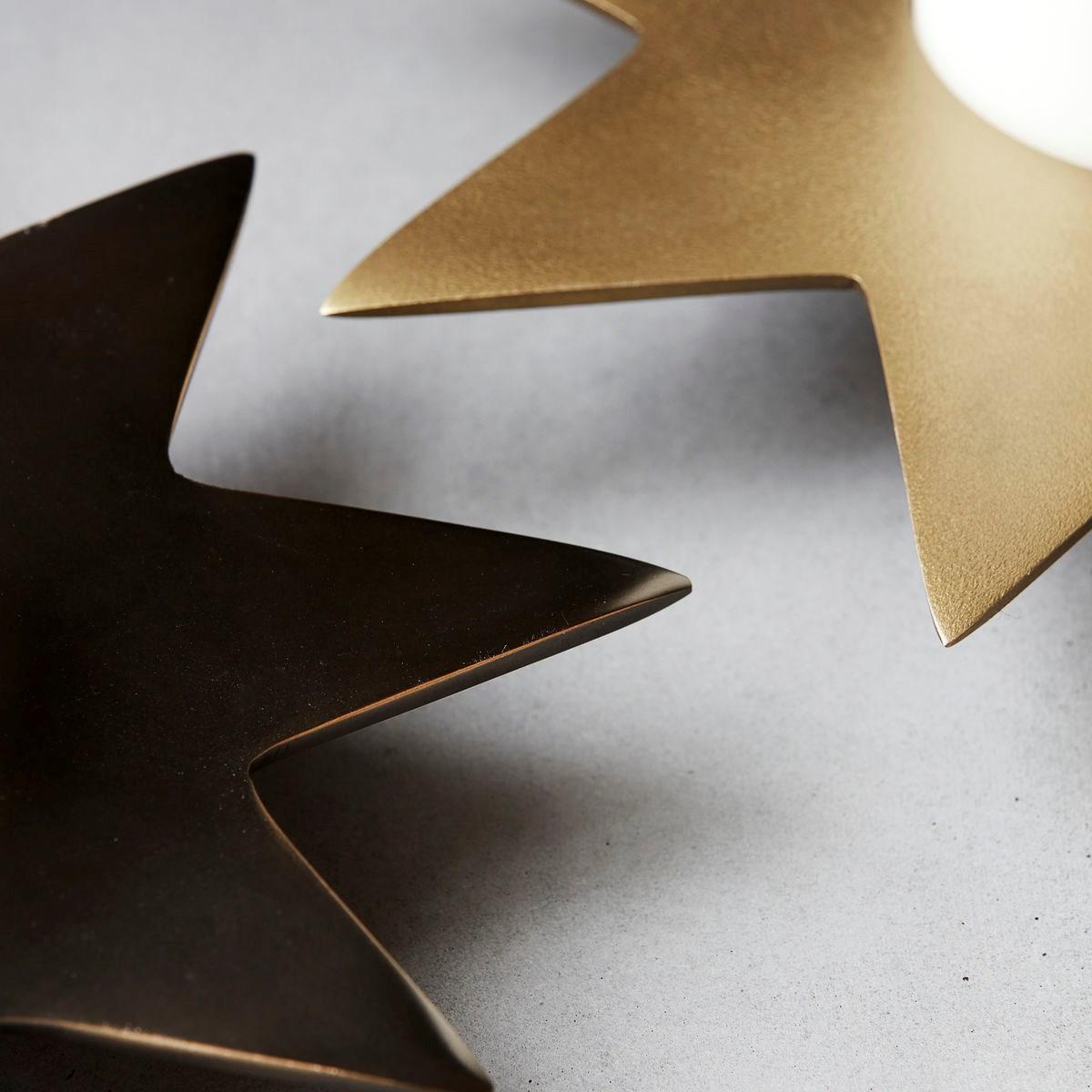 Kovový svícen STAR P.22 cm antický kov_2