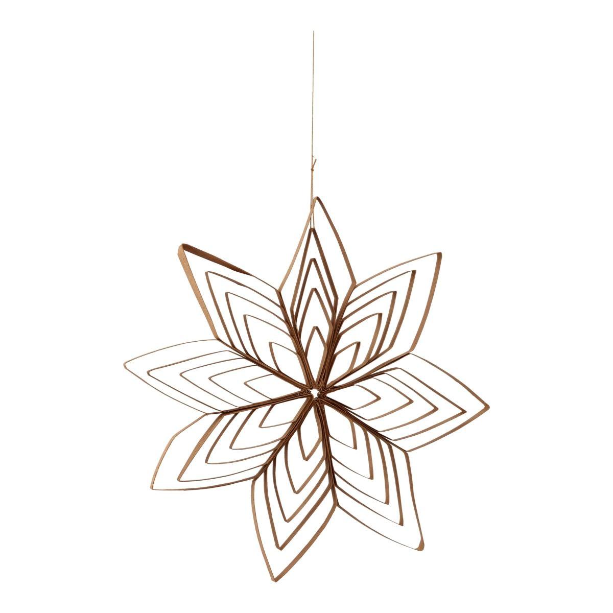 Závěsná papírová hvězda OUILLING přírodní_0