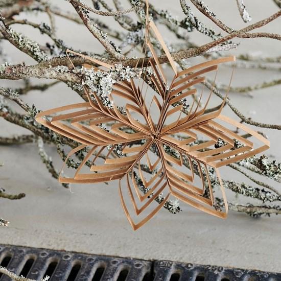 Závěsná papírová hvězda OUILLING přírodní_1