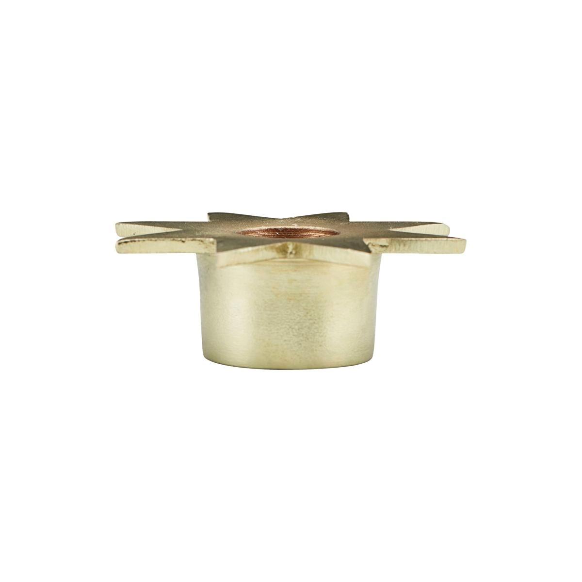 Kovový svícen STAR P.8,5 cm zlatá_0