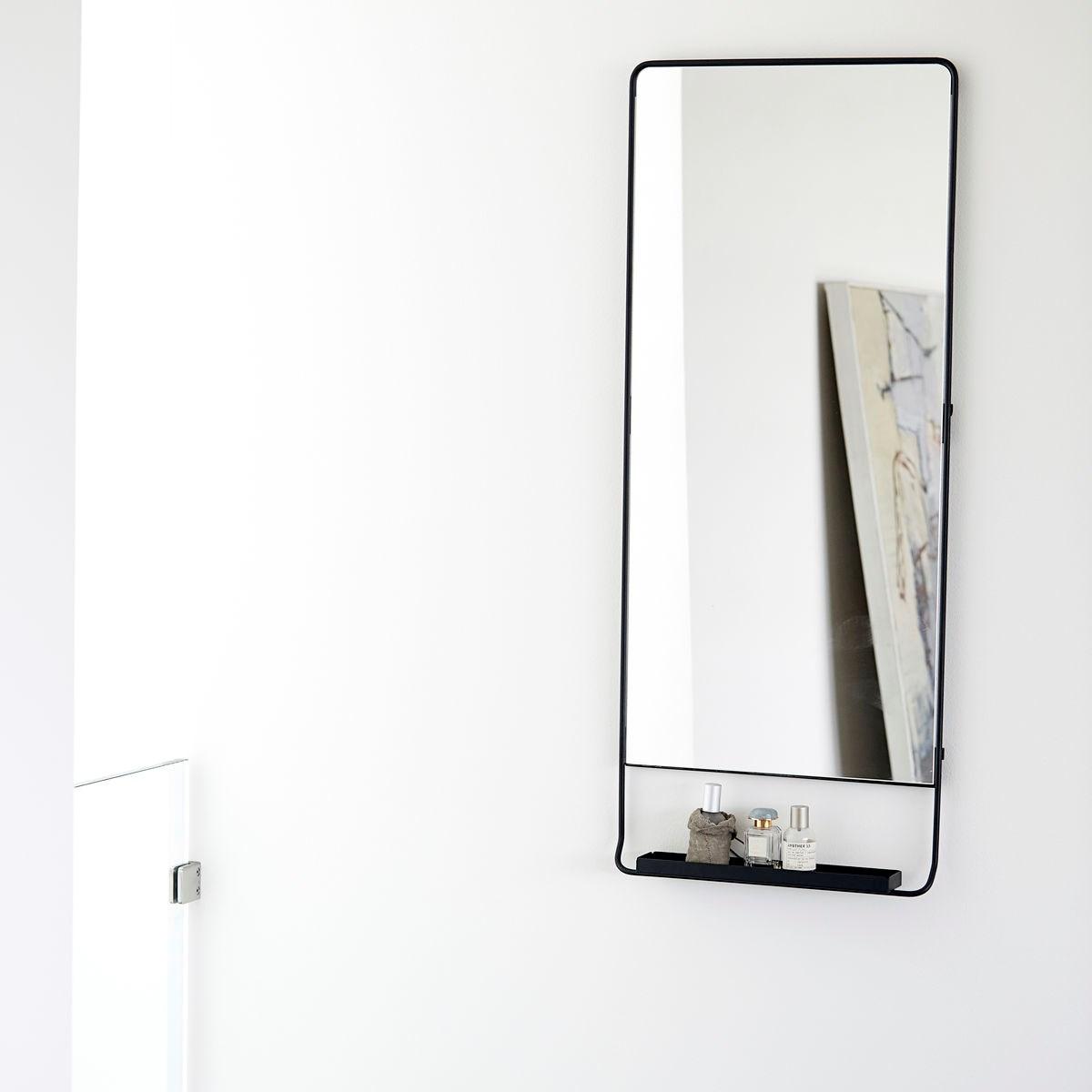 Zrcadlo s policí CHIC černé V.110 cm_1