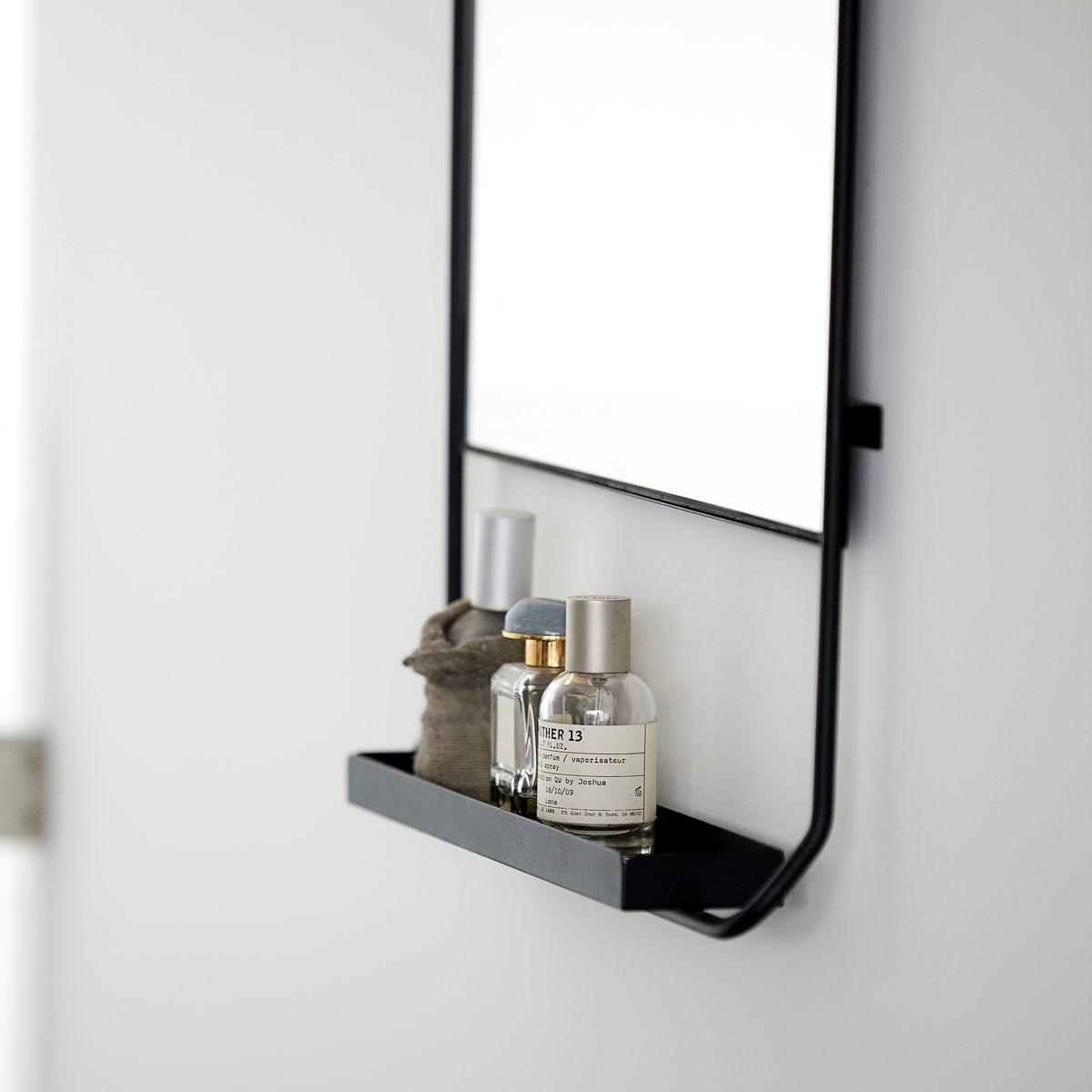 Zrcadlo s policí CHIC černé V.110 cm_2