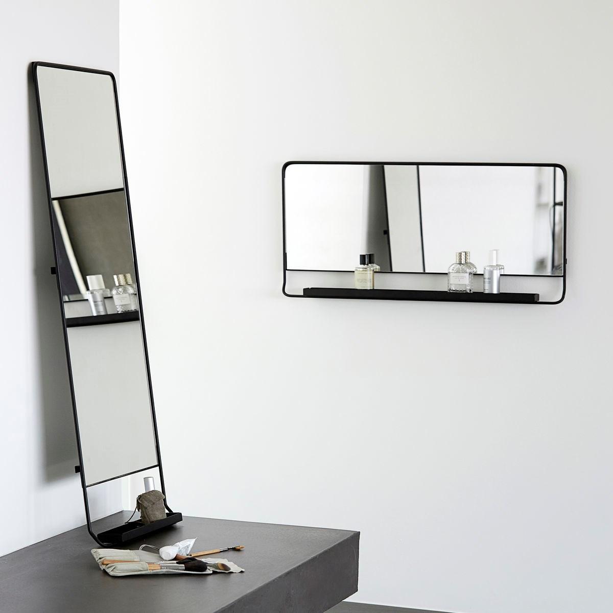 Zrcadlo s policí CHIC černé V.80 cm_1