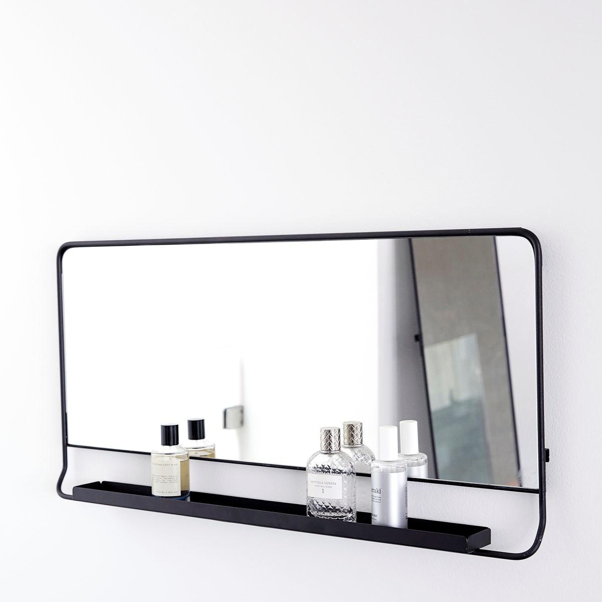 Zrcadlo s policí CHIC černé V.80 cm_2