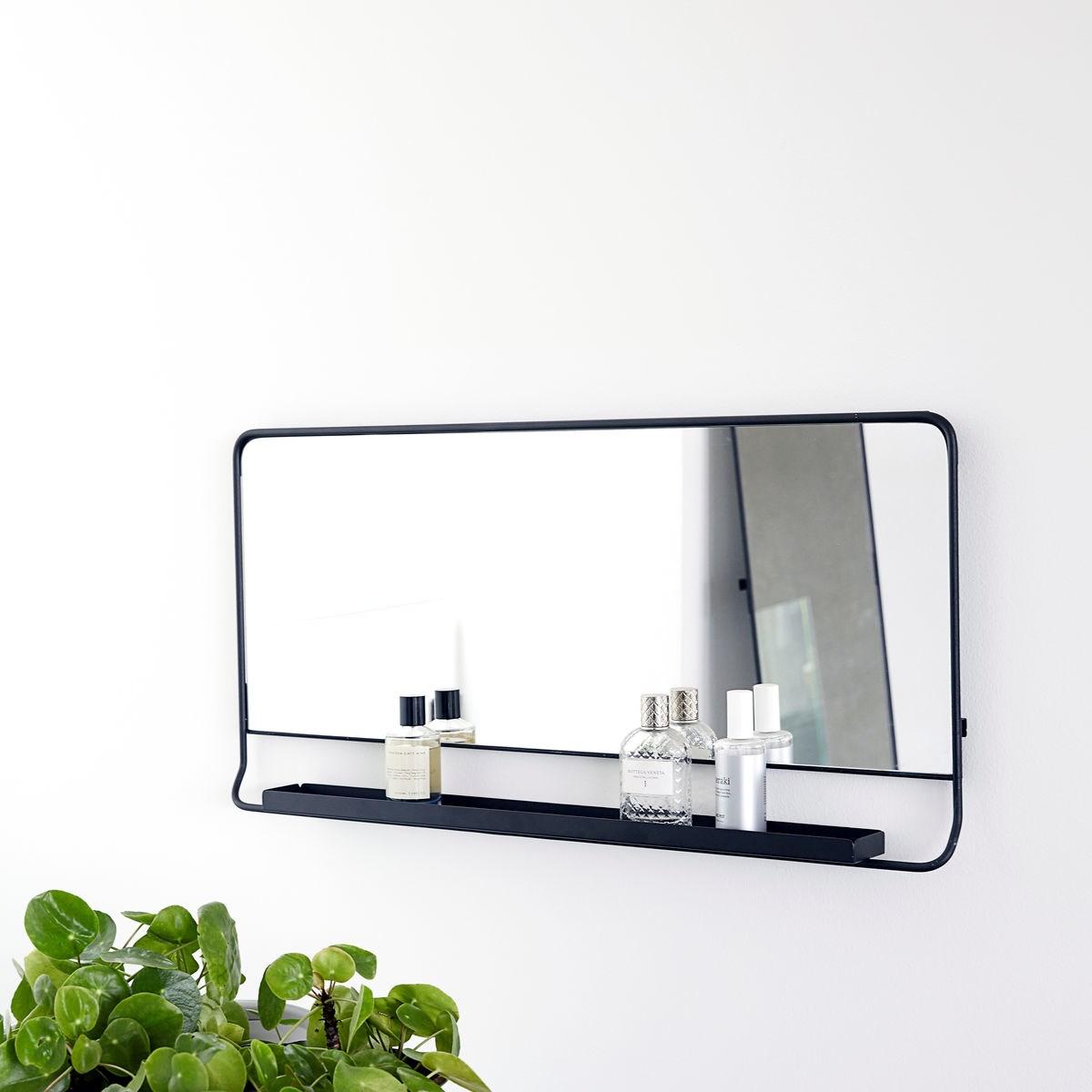 Zrcadlo s policí CHIC černé V.80 cm_3
