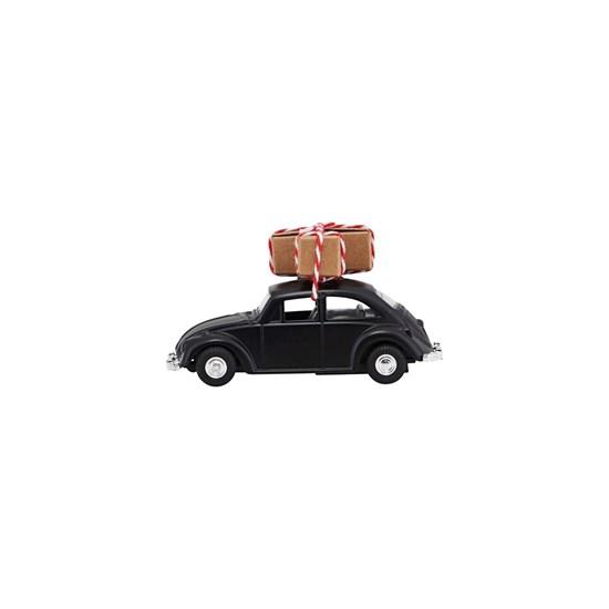 Vánoční dekorace auto MINI Xmas černé_0