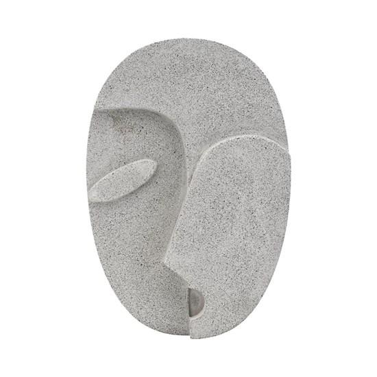 Nástěnná dekorace FACE šedá 32 cm_0