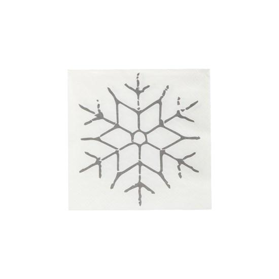 Ubrousky SNOWFLAKE černá SET/40 ks_0
