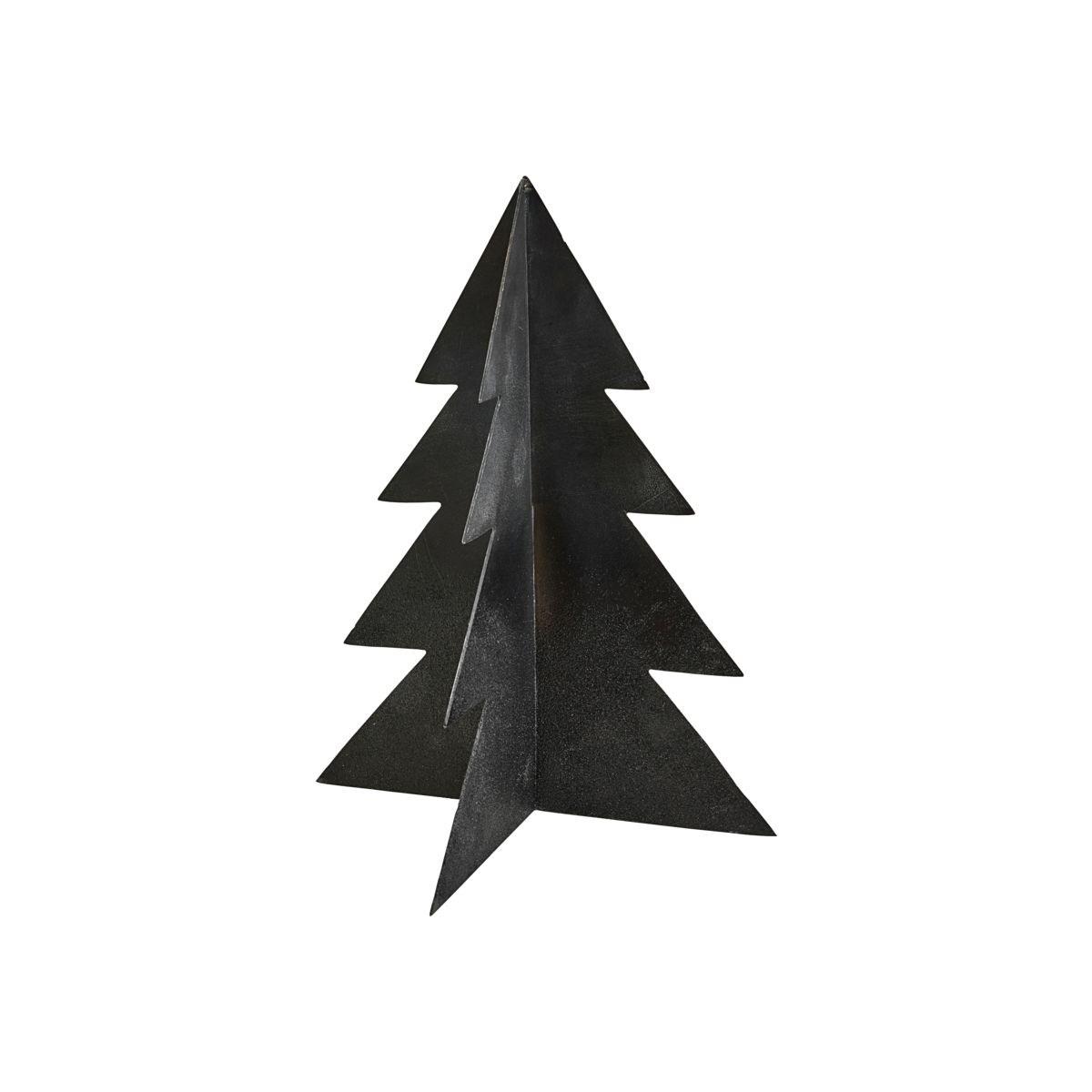 Vánoční strom GLIZZ 26 cm kovový černý_0
