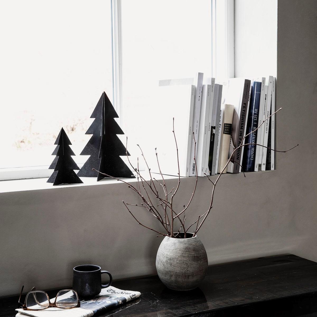 Vánoční strom GLIZZ 26 cm kovový černý_1