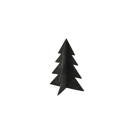 Vánoční strom GLIZZ 17 cm kovový černý_0
