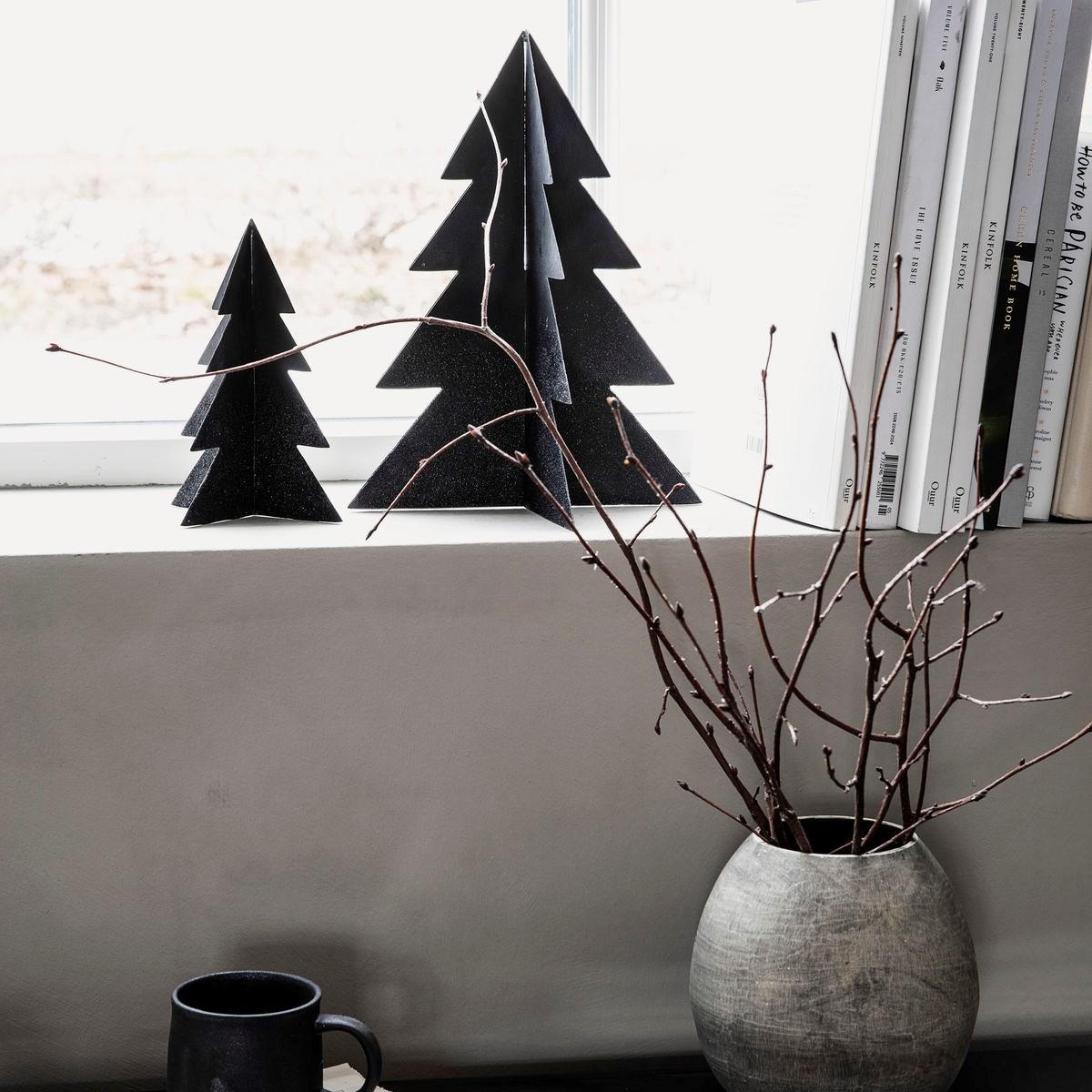 Vánoční strom GLIZZ 17 cm kovový černý_3