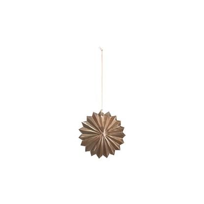 Vánoční dekorace hvězda ROSETTE 8 cm mosazná_0
