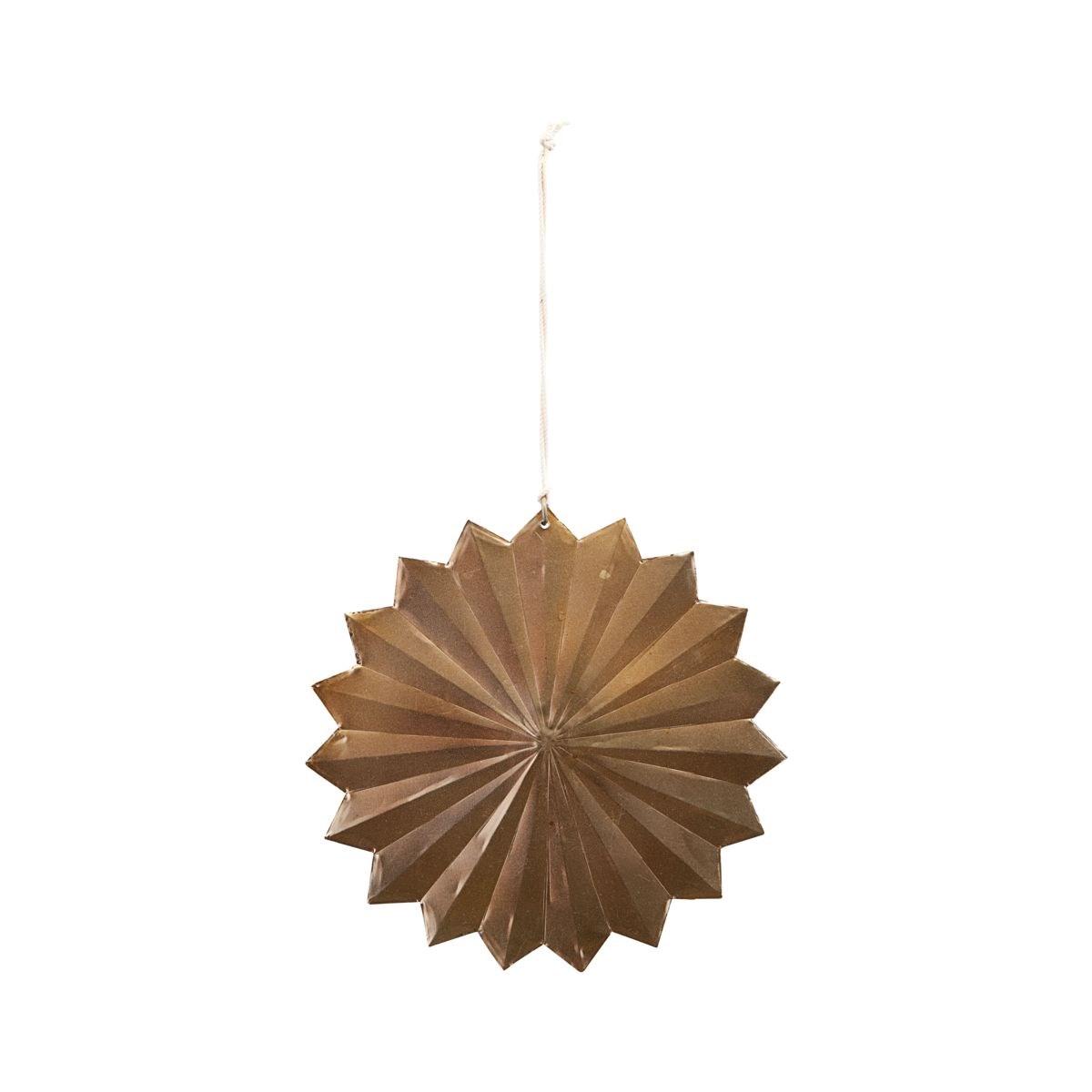 Vánoční dekorace hvězda ROSETTE 12 cm mosazná_0